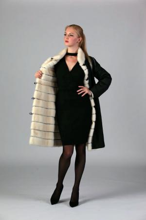 Двустороннее пальто из норки