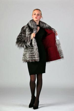 Двустороняя куртка с мехом чернобурки